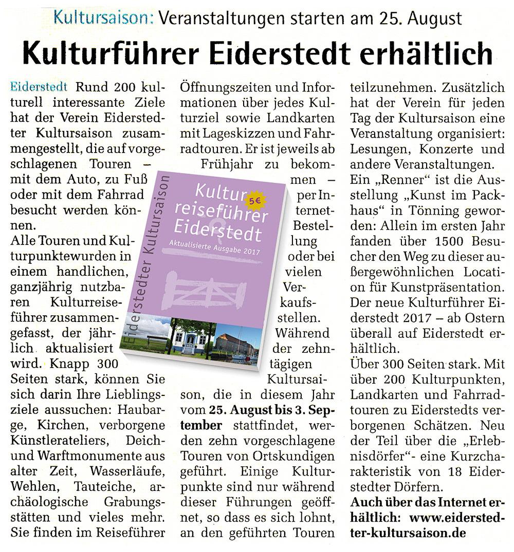 """Die Wochenschau"""" - Ausgabe 13. 8. 2017"""