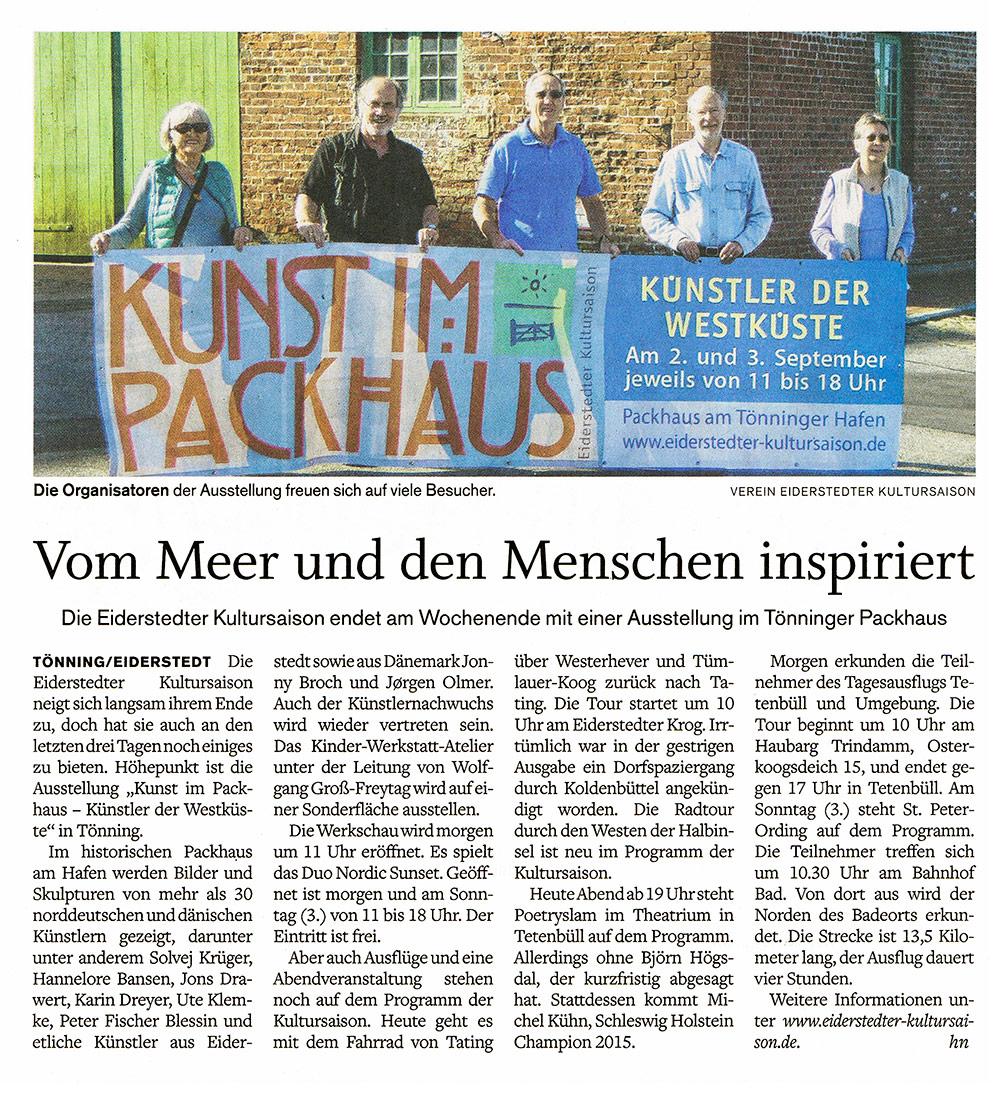 Husumer Nachrichten - 01. September 2017 width=