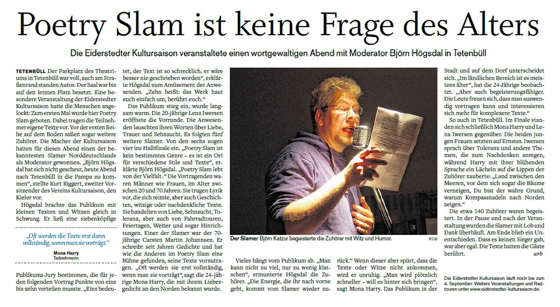 Husumer Nachrichten - 01.09.2016