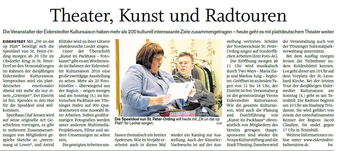 Husumer Nachrichten - 02.09.2016
