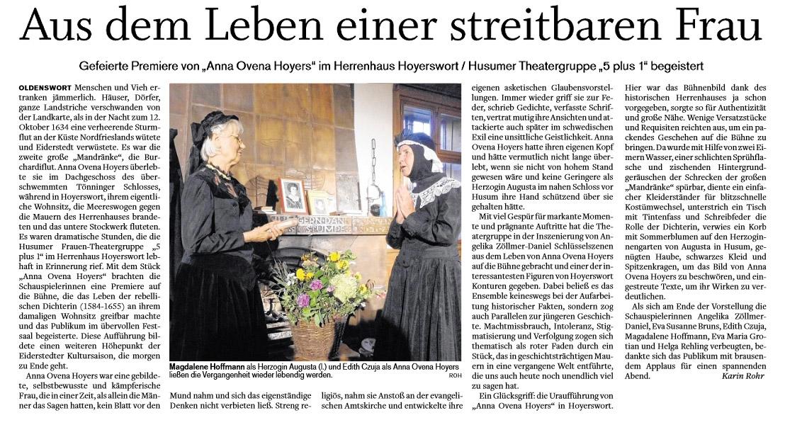Husumer Nachrichten - 03.09.2016