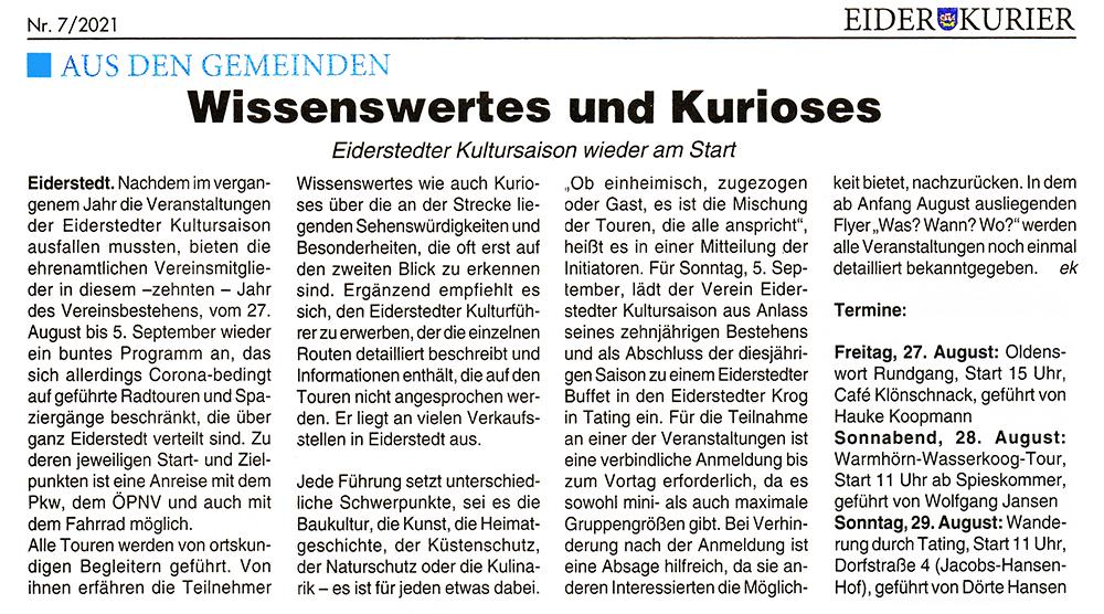 Eider Kurier / August 2021 width=