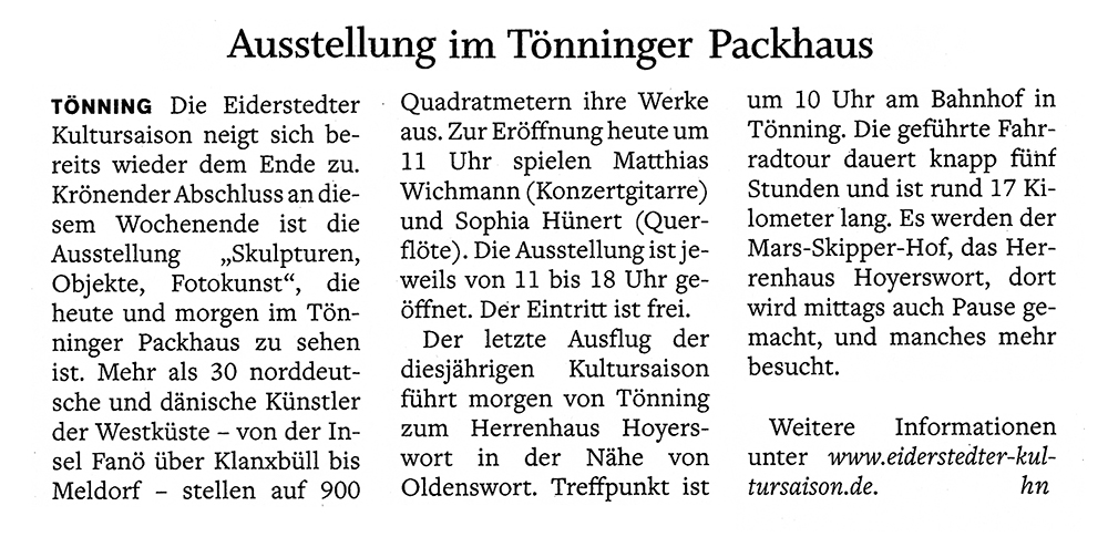 Husumer Nachrichten / 1. 9. 2018 width=