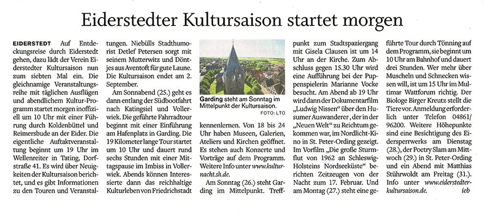 Husumer Nachrichten / 23. 8. 2018 width=