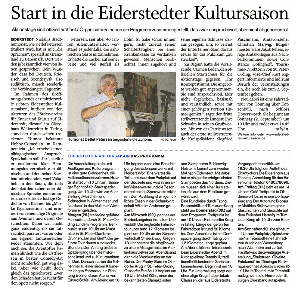 Husumer Nachrichten / 27. August 2018 width=