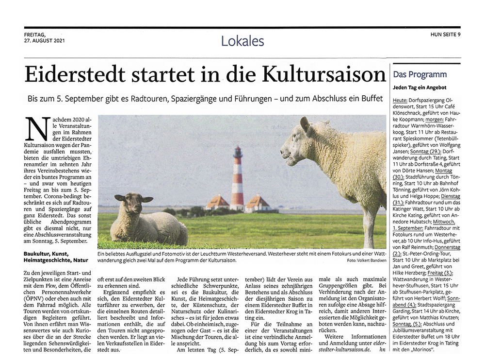 Husumer Nachrichten / 27 August 2021 width=
