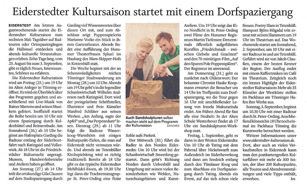 Husumer-Nachrichten - 23. 8. 2017