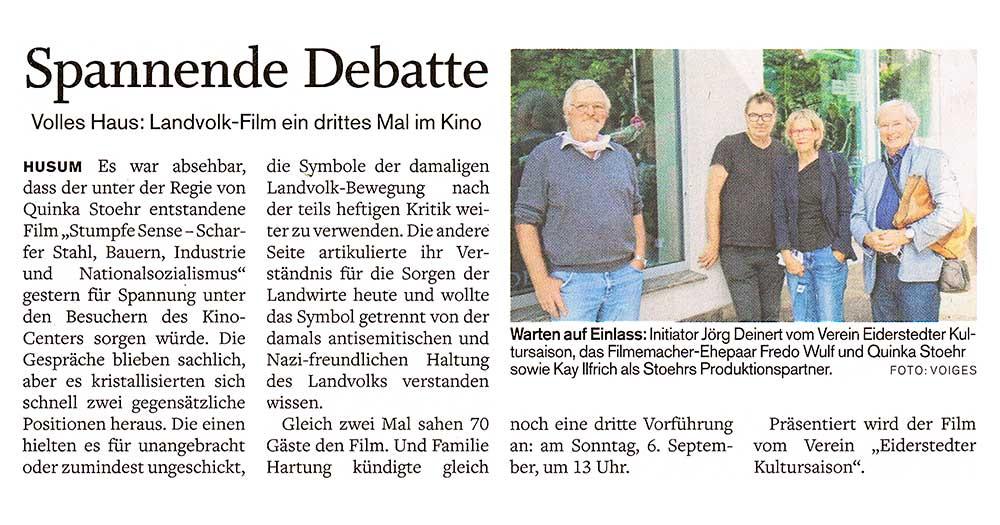 Husumer Nachrichten / August 2020 width=
